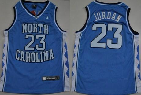 North Carolina Tar Heels #23 Michael Jordan Light Blue Swingman Jersey