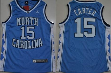 North Carolina Tar Heels #15 Vince Carter Light Blue Swingman Jersey