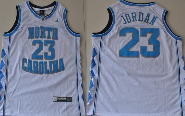 North Carolina Tar Heels #23 Michael Jordan White Swingman Jersey