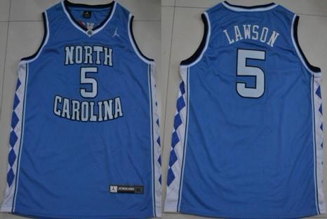 North Carolina Tar Heels #5 Ty Lawson Light Blue Swingman Jersey