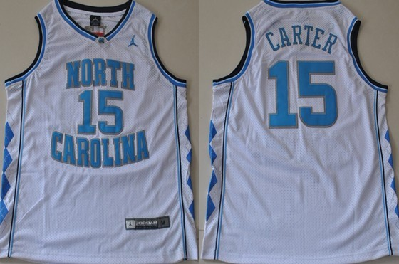 North Carolina Tar Heels #15 Vince Carter White Swingman Jersey