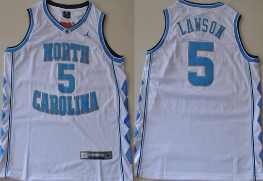 North Carolina Tar Heels #5 Ty Lawson White Swingman Jersey