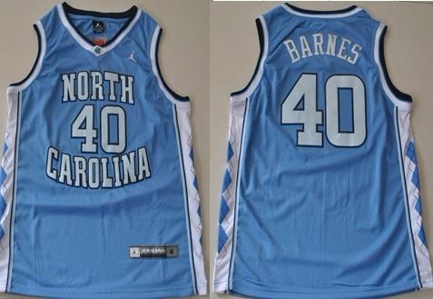 North Carolina Tar Heels #40 Harrison Barnes Light Blue Swingman Jersey