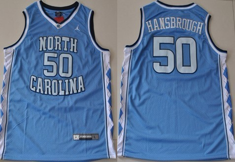 North Carolina Tar Heels #50 Tyler Hansbrough Light Blue Swingman Jersey