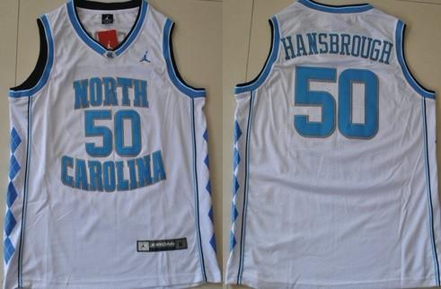 North Carolina Tar Heels #50 Tyler Hansbrough White Swingman Jersey