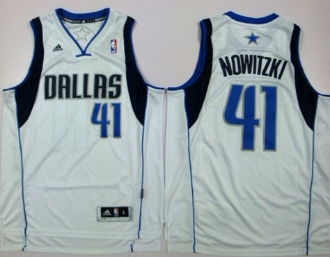 Dallas Mavericks #41 Dirk Nowitzki Revolution 30 Swingman White Jersey