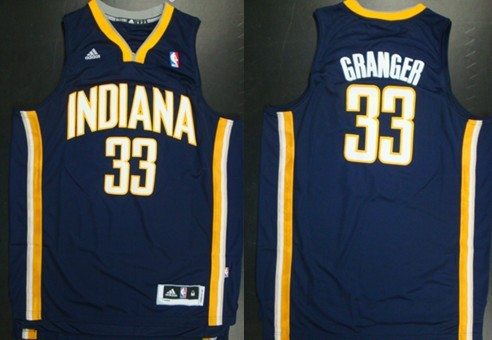 Indiana Pacers #33 Danny Granger Revolution 30 Swingman Navy Blue Jersey