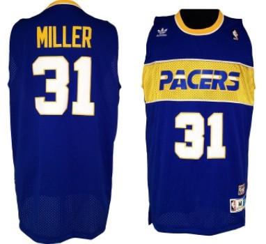 Indiana Pacers #31 Reggie Miller Light Blue ABA Hardwood Classic Swingman Jersey
