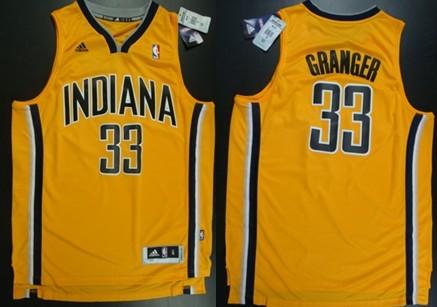 Indiana Pacers #33 Danny Granger Revolution 30 Swingman Yellow Jersey