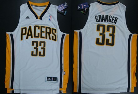 Indiana Pacers #33 Danny Granger Revolution 30 Swingman White Jersey