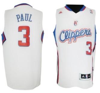 Los Angeles Clippers #3 Chris Paul Revolution 30 Swingman White Jersey