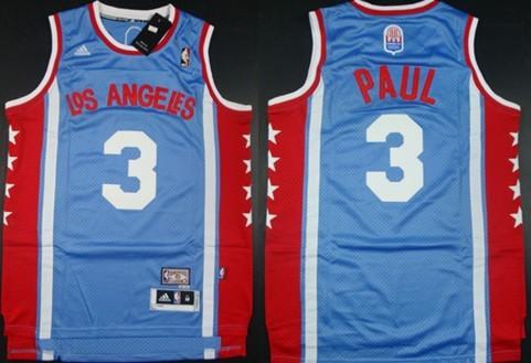 Los Angeles Clippers #3 Chris Paul ABA Hardwood Classic Swingman Blue Jersey
