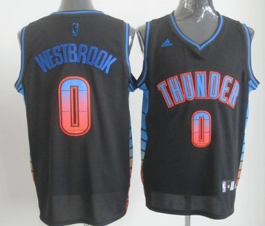 Oklahoma City Thunder #0 Russell Westbrook 2012 Vibe Revolution 30 Swingman Black Jersey