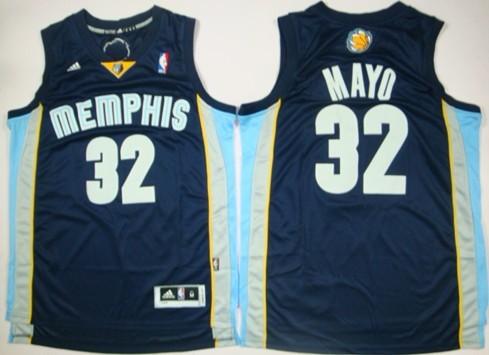 Memphis Grizzlies #32 O.J. Mayo Revolution 30 Swingman Navy Blue Jersey