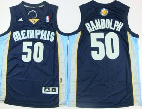 Memphis Grizzlies #50 Zach Randolph Revolution 30 Swingman Navy Blue Jersey