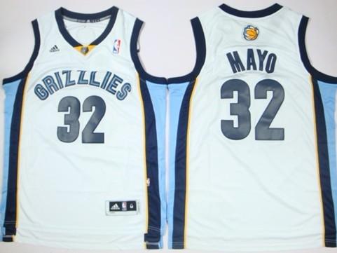 Memphis Grizzlies #32 O.J. Mayo Revolution 30 Swingman White Jersey