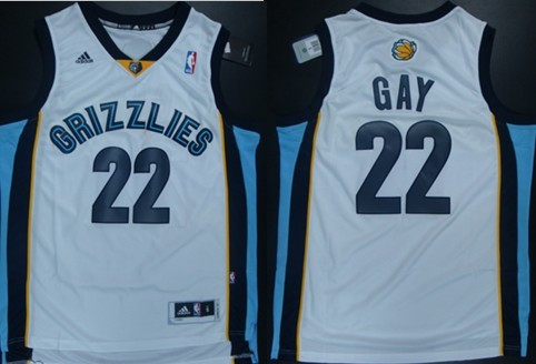 Memphis Grizzlies #22 Rudy Gay Revolution 30 Swingman White Jersey