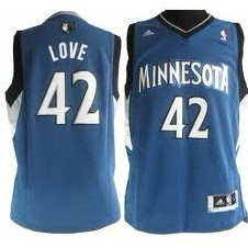 Minnesota Timberwolves #42 Kevin Love Revolution 30 Swingman Blue Jersey