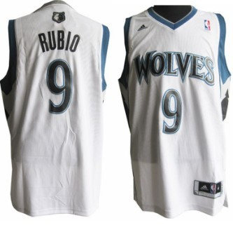 Minnesota Timberwolves #9 Ricky Rubio Revolution 30 Swingman White Jersey