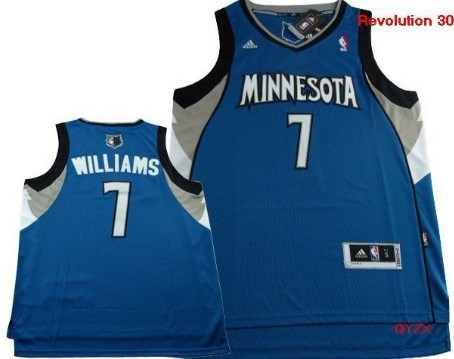 Minnesota Timberwolves #7 Derrick Williams Revolution 30 Swingman Blue Jersey