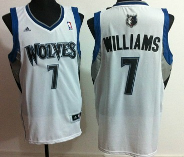 Minnesota Timberwolves #7 Derrick Williams Revolution 30 Swingman White Jersey
