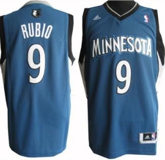 Minnesota Timberwolves #9 Ricky Rubio Revolution 30 Swingman Blue Jersey