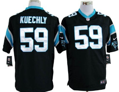 Nike Carolina Panthers #59 Luke Kuechly Black Game Jersey