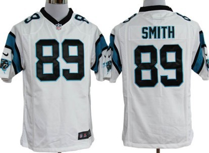Nike Carolina Panthers #89 Steve Smith White Game Jersey