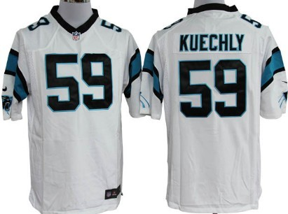 Nike Carolina Panthers #59 Luke Kuechly White Game Jersey