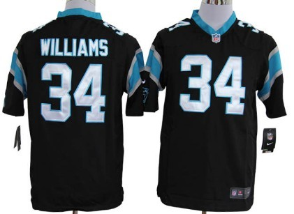 Nike Carolina Panthers #34 DeAngelo Williams Black Game Jersey