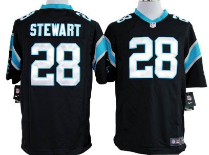 Nike Carolina Panthers #28 Jonathan Stewart Black Game Jersey