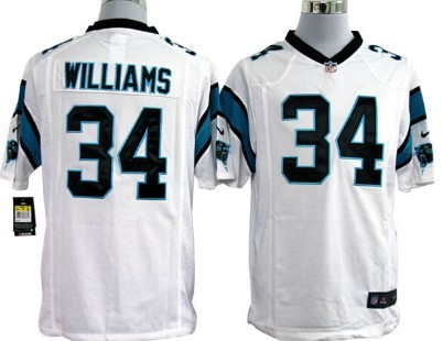 Nike Carolina Panthers #34 DeAngelo Williams White Game Jersey
