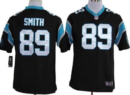Nike Carolina Panthers #89 Steve Smith Black Game Jersey