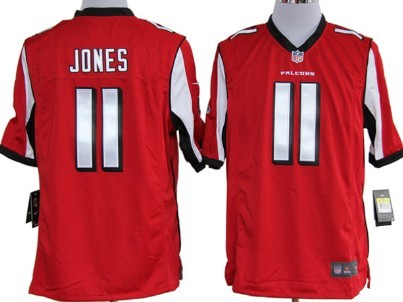 Nike Atlanta Falcons #11 Julio Jones Red Game Jersey