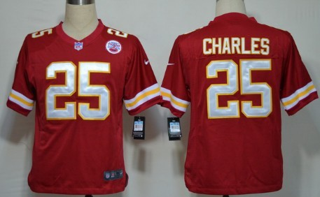 Nike Kansas City Chiefs #25 Jamaal Charles Red Game Jersey
