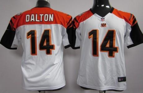 Nike Cincinnati Bengals #14 Andy Dalton White Game Kids Jersey