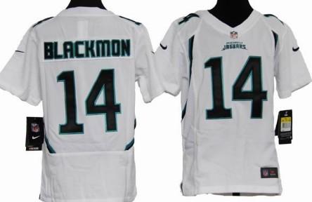 Nike Jacksonville Jaguars #14 Justin Blackmon White Game Kids Jersey