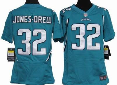 Nike Jacksonville Jaguars #32 Maurice Jones Drew Green Game Kids Jersey