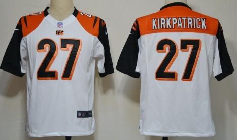 Nike Cincinnati Bengals #27 Dre Kirkpatrick White Game Jersey