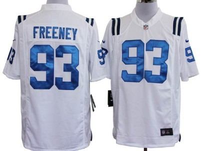 Nike Indianapolis Colts #93 Dwight Freeney White Game Jersey
