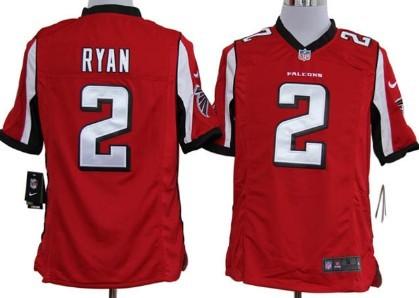 Nike Atlanta Falcons #2 Matt Ryan Red Game Jersey