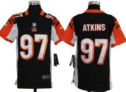 Nike Cincinnati Bengals #97 Geno Atkins Black Game Kids Jersey