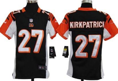 Nike Cincinnati Bengals #27 Dre Kirkpatrick Black Game Kids Jersey