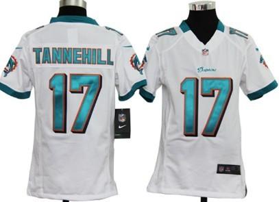 Nike NFL Miami Dolphins #17 Ryan Tannehill White Game Kids Jersey