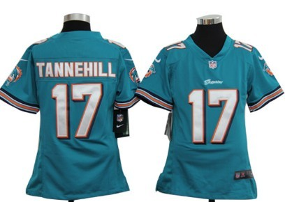 Nike NFL Miami Dolphins #17 Ryan Tannehill Green Game Kids Jersey