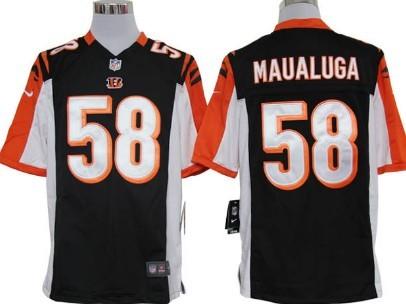 Nike Cincinnati Bengals #58 Rey Maualuga Black Game Jersey
