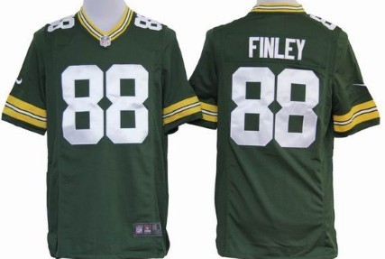 Nike Green Bay Packers #88 Jermichael Finley Green Game Jersey
