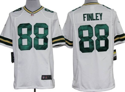 Nike Green Bay Packers #88 Jermichael Finley White Game Jersey