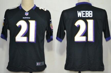Nike Baltimore Ravens #21 Lardarius Webb Black Game Jersey