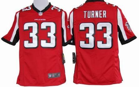 Nike Atlanta Falcons #33 Michael Turner Red Game Jersey